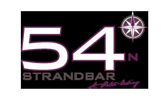 Logo Strandbar 54 Grad Nord