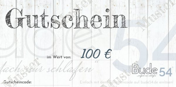 100€ Gutschein für unsere Bude54