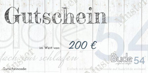 200€ Gutschein für unsere Bude54