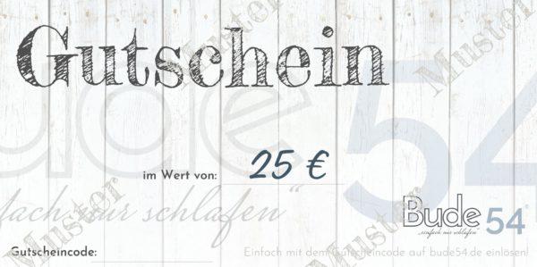 25€ Gutschein für unsere Bude54