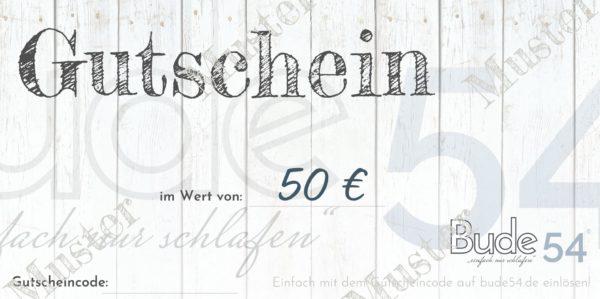 50€ Gutschein für unsere Bude54
