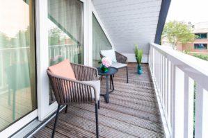 Balkon in unserer Bude54 in SPO
