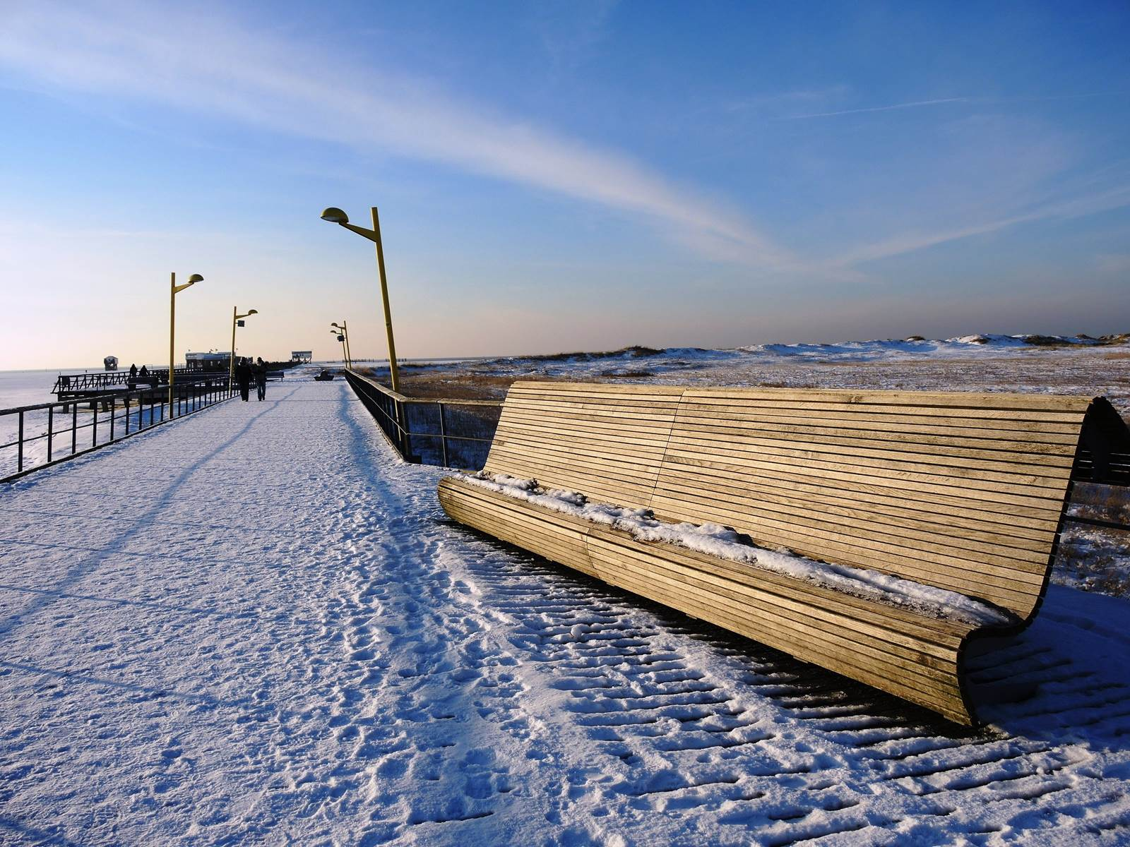 Winter in St. Peter-Ording bei der Bude54